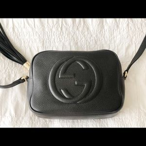 GUCCI Disco Black Crossbody Handbag